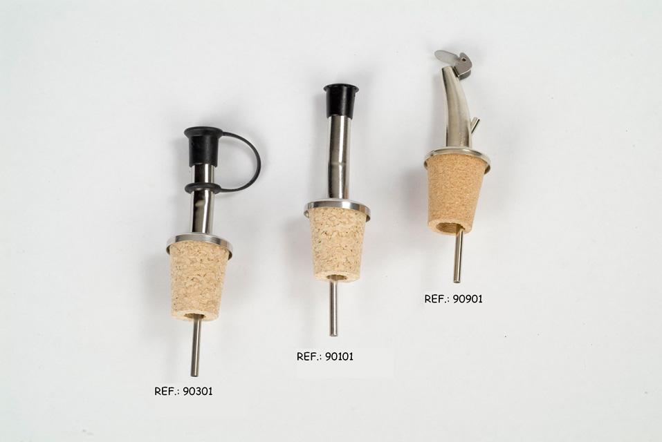 Dosificadores de metal para el vino